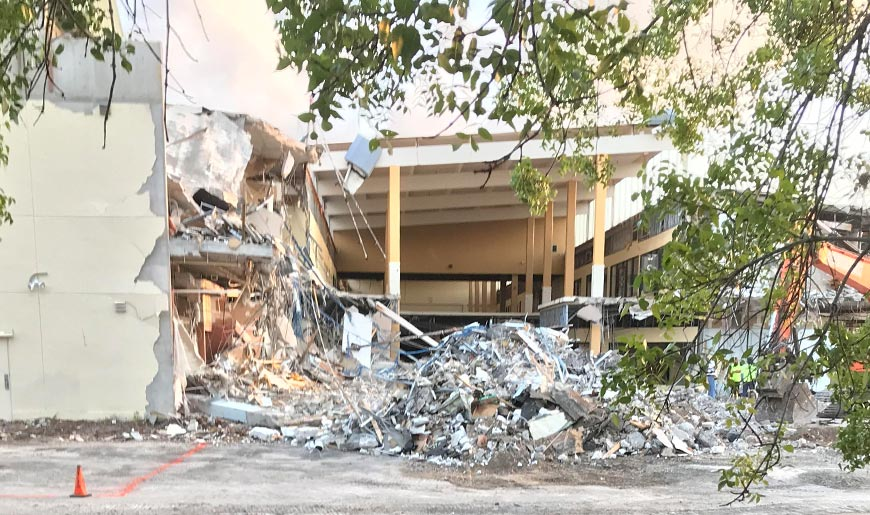 Fort Myers Atrium Demolition Update | All American Coin Shop Fort Myers, Florida